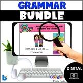 Boom Cards First Grade Grammar Bundle Distance Learning