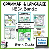 Grammar and Language Boom Cards™ Bundle | Distance Learning