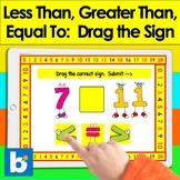 Boom Cards Math Greater Than Less Than Equal 30 Digital Ca