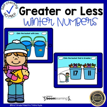 Boom Cards Greater or Less Than Winter