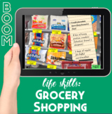 Boom Cards: Grocery Shopping Life Skills Simulation (distance learning w/ audio)