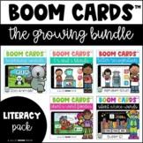 Boom Cards Growing Bundle - Literacy Skills | Distance Lea