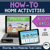 HOW TO Home  -Dishes | Laundry | Dog Bathing | Bed Making BOOM CARDS