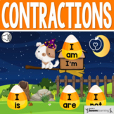 Boom Cards™ Halloween Contractions: Not, Is, Am, Are, Us