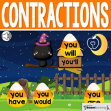 Boom Cards™ Halloween Contractions: Will, Have, Would