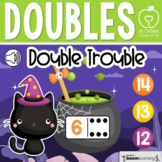Boom Cards™ Halloween Doubles Addition