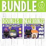 Boom Cards - Halloween Doubles and Near Doubles Addition Bundle