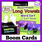 Boom Cards Halloween | Ghost Word Sort | Long Vowels | Short Vowels |