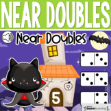 Boom Cards - Halloween Near Doubles Addition
