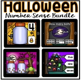 Boom Cards - Halloween Number Sense Bundle (Kindergarten Digital Math Centers)