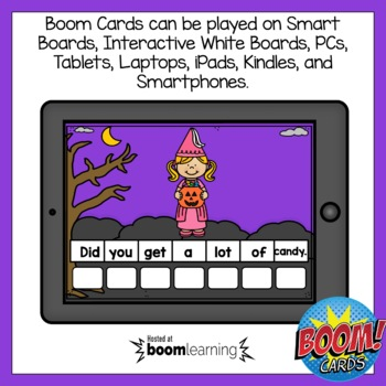 Boom Cards Halloween Sentence Scrambles