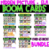 Boom Cards   Hidden Pictures ELA Bundle 50% 48 hours only