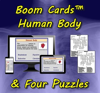Boom Cards™ Human Body & Four Puzzles