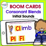 Boom Cards INITIAL SOUNDS CONSONANT BLENDS Digital Task Cards