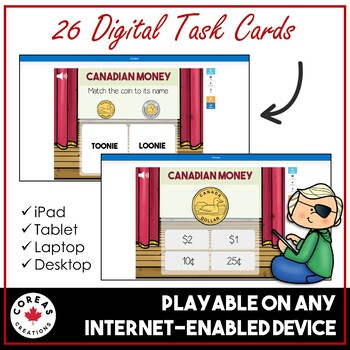 Boom Cards | Identify and Sort Canadian Money