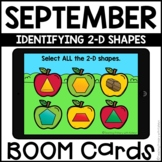 Boom Cards™ | Identifying 2-D Shapes | September Themed Fi