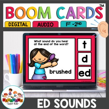 Distance Learning Sounds of ed Boom Cards