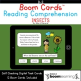 Boom Cards™ Insects Reading Comprehension Passage Distance Learning
