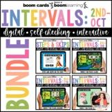 Boom Cards Intervals Bundle: 2nds to Octaves, Steps & Skips