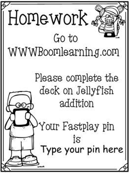 Boom Cards Jellyfish Addition
