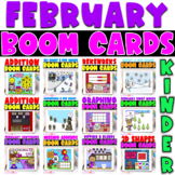 Boom Cards | Kindergarten February Bundle