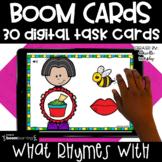 Boom Cards Kindergarten l Rhyming Distance Learning