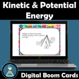 Boom Cards Kinetic and Potential Energy NGSS Skill Boosters