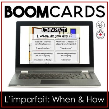 Boom Cards | L'imparfait: When and How It's Used
