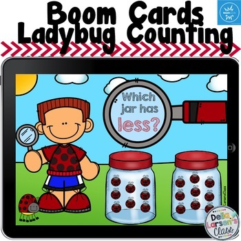 Boom Cards Ladybug Comparing Numbers and Sets