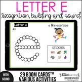 Boom Cards - Letter E (Recognition, discrimination, letter