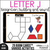 Boom Cards - Letter J (Recognition, discrimination, letter