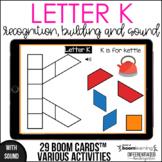 Boom Cards - Letter  K (Recognition, discrimination, lette