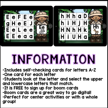 Boom Cards - Letter Recognition (Kindergarten Interactive Self-Checking Cards)