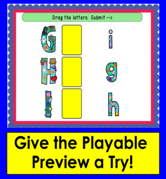Boom Cards™ Letter Recognition Match Upper to Lowercase Letters