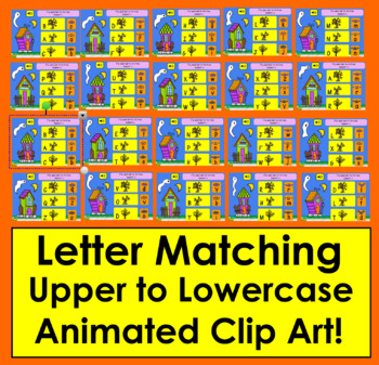 Boom Cards Letter Recognition Alphabet Match Upper to Lowercase Letters-Animated