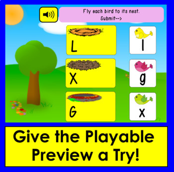 Boom Cards™ Letter Recognition Match Upper to Lowercase Letters - With Animation
