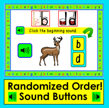 Boom Cards™ Letter Reversals:  b and d :  Lesson & Practice