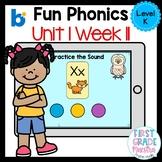 Boom Cards Level K Unit 1 Week 11
