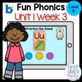 Boom Cards Level K Unit 1 Week 3