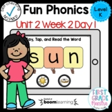 Boom Cards Level K Unit 2 Week 2 Day 1