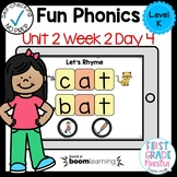 Boom Cards Level K Unit 2 Week 2 Day 4