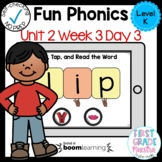 Boom Cards Level K Unit 2 Week 3 Day 3