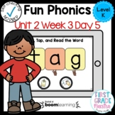 Boom Cards Level K Unit 2 Week 3 Day 5