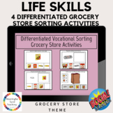 Boom Cards™ Life Skills: Grocery Store Differentiated Sorting