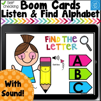 Boom Cards Listen and Find the Alphabet