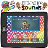 Boom Cards - Listening for Sounds - Distant Learning