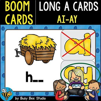 Boom Cards | Long A Cards (ay,ai)