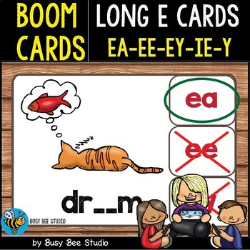 Boom Cards | Long E Cards (ee,ea, ey, ie, y)