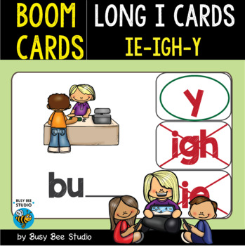 Boom Cards | Long I Cards (ie, igh, y)