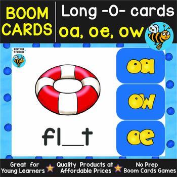 Boom Cards   Long O Cards (oe, ow, oa)